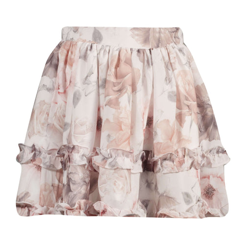 Floral chiffon skirt by Patachou