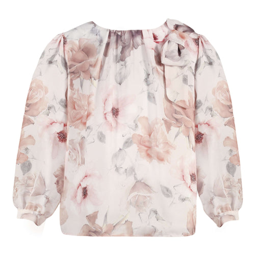 Floral Print Pale Pink Blouse by Patachou