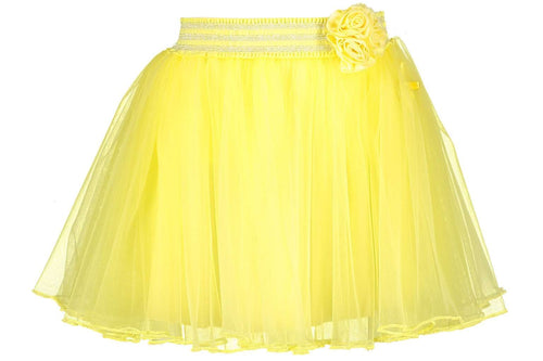 Flower At Waist Petticoat Skirt By Le Chic (Yellow Lemonade)
