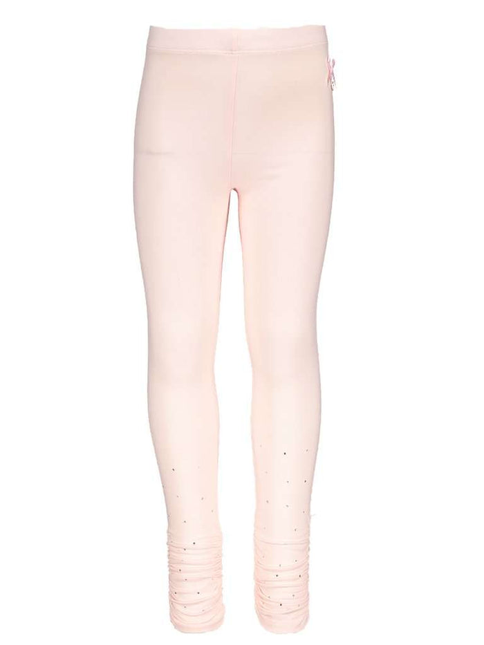 Gathered Leggings by Le Chic (Blush Pink)