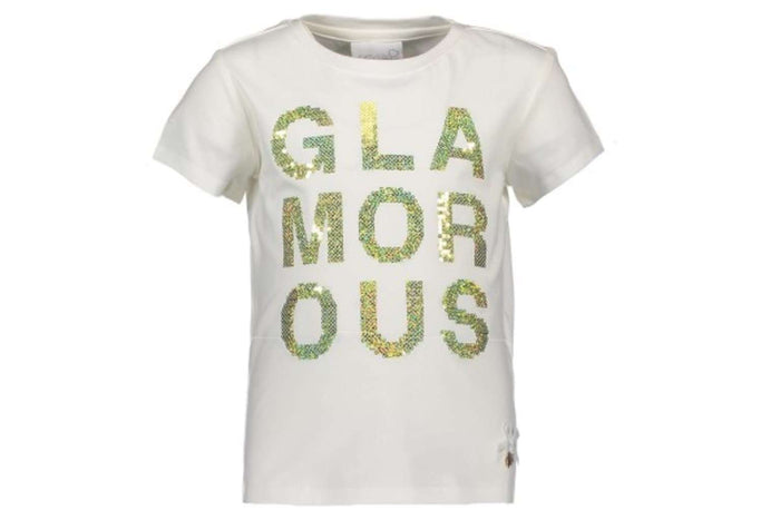 Glamorous T-Shirt by Le Chic (Gold Sequins)