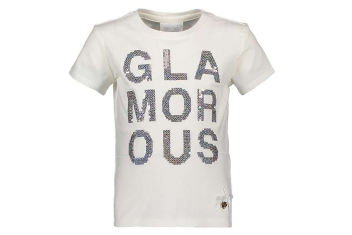 Glamorous T-Shirt by Le Chic (Silver Sequins)