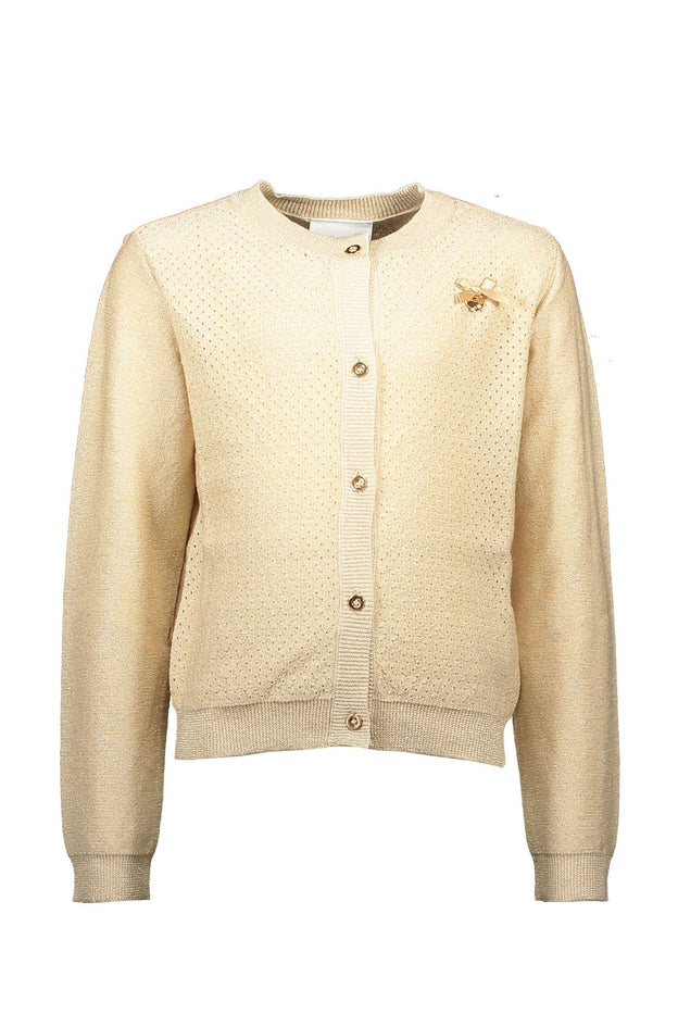 Gold Summer Cardigan by Le Chic