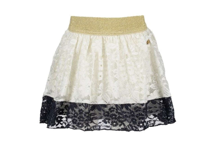 Golden Flower Lace Skirt by Le Chic