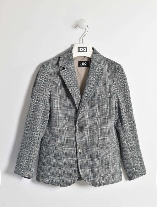 Grey and Beige Knitted Jacket by IDO