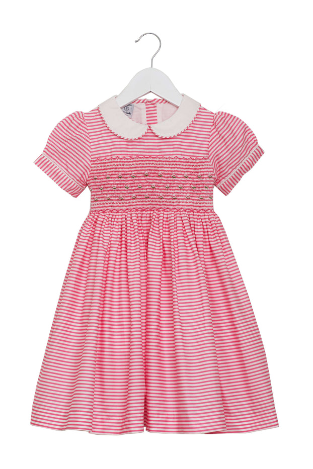 "Hand Smocked ""Lucy"" Dress By Little Larks"