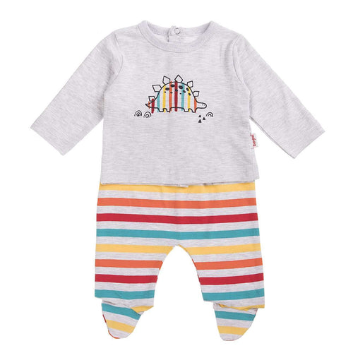 Happy Stripy Dino 2 Piece Suit - 10014