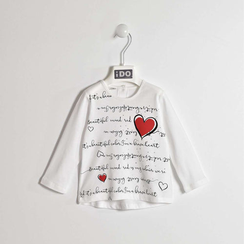 Hearts and Writing Long Sleeve T-Shirt by IDO