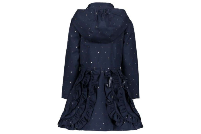 Irregular Dots Coat by Le Chic (Navy)