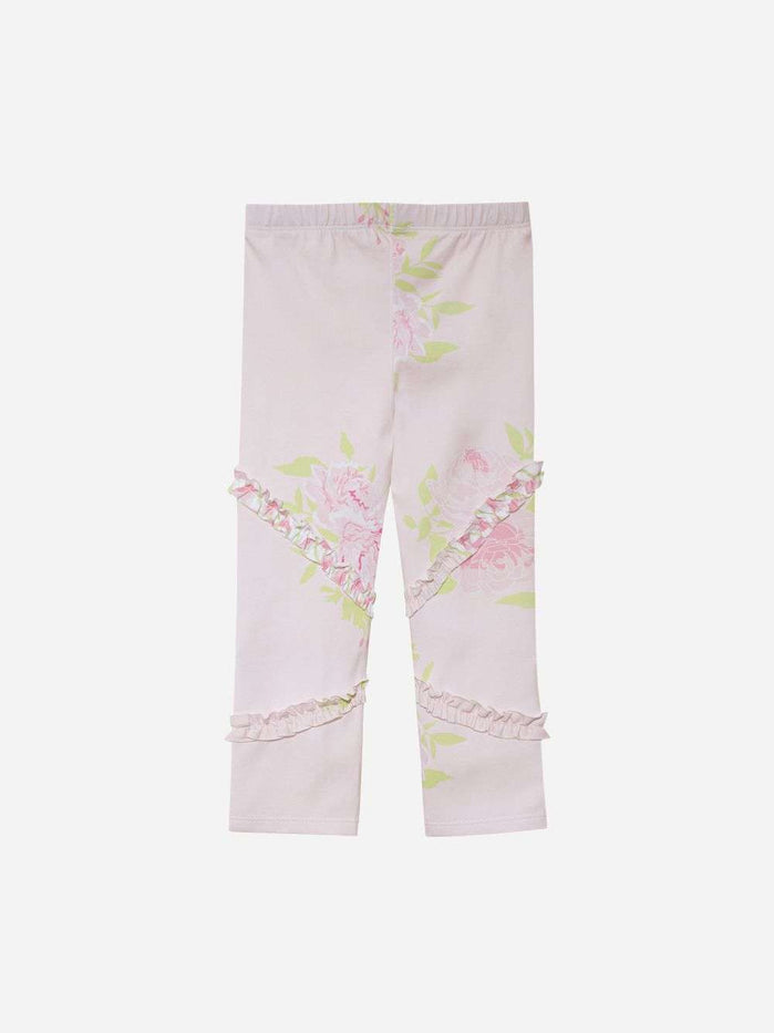 Jersey Pink Legging With Floral Print By Patachou