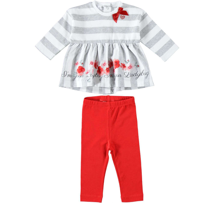 Ladybug Long Sleeved Set by IDO