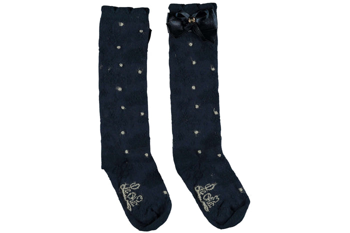Le Chic Knee Socks Gold Dots