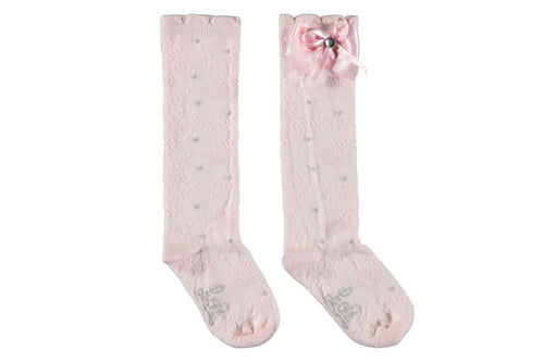 Le Chic Knee Socks Silver Dots