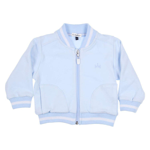 Light Blue Tracksuit Top by GYMP