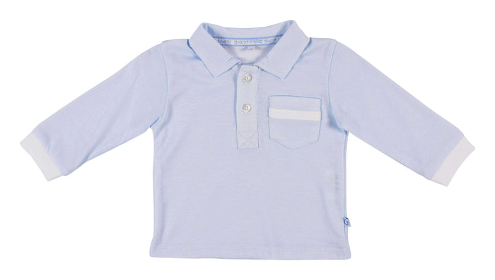 Long Sleeved Light Blue Polo Shirt by GYMP