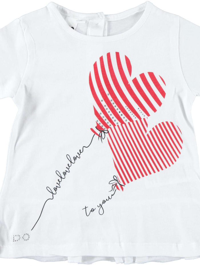 Love Heart Balloons T-Shirt by IDO