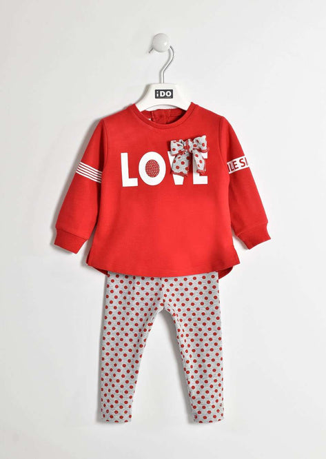 LOVE Spotty Bow Sweater & Leggings by IDO