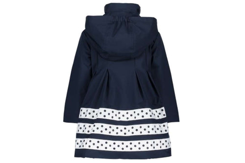 Luxury Panel Skirt Coat by Le Chic (Navy)