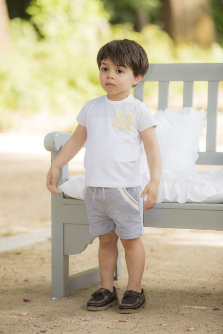Melange Grey Boys Shorts by Patachou