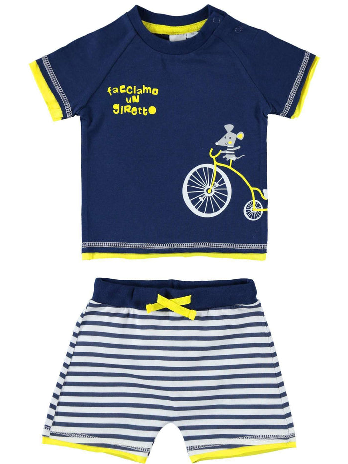Mouse and Bike Short Sleeved Set by IDO
