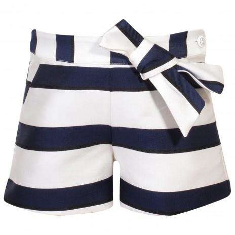 Navy Striped Shorts by Patachou