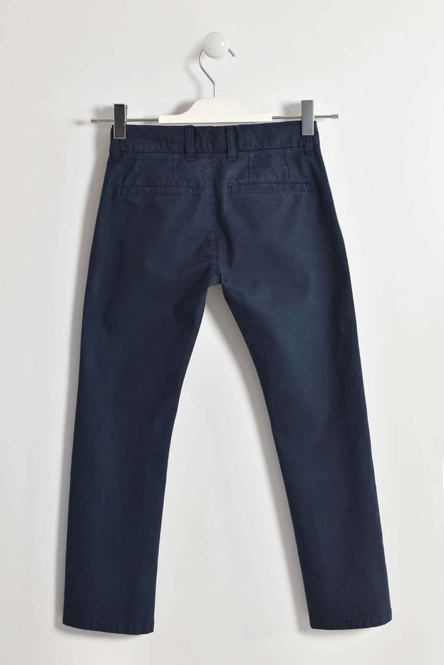 Navy Woven Trousers by IDO