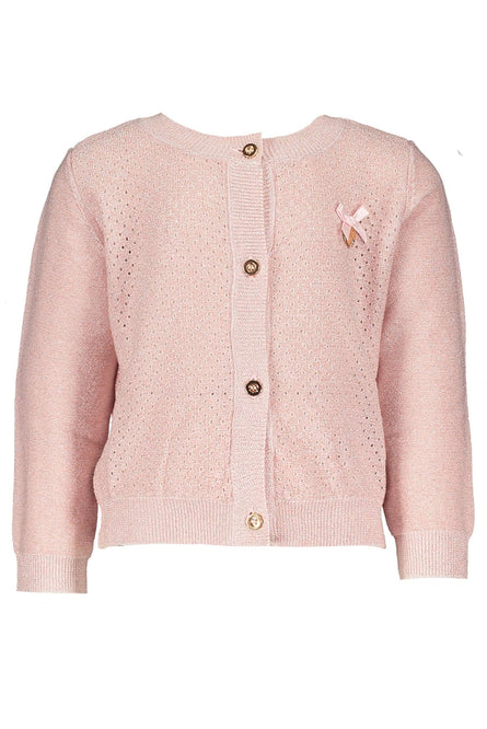 Pink Cardigan with bow detail by Le Chic