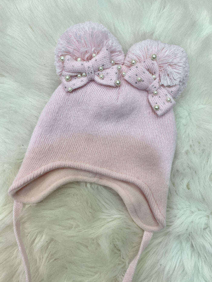 Pink Double Bow Hat