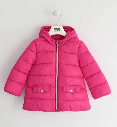 Pink Padded Thermal Coat By IDO
