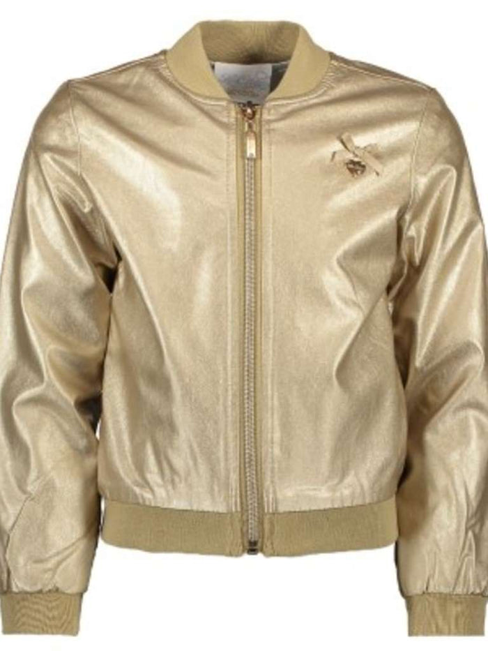 Precious Metal Bomber Jacket by Le Chic