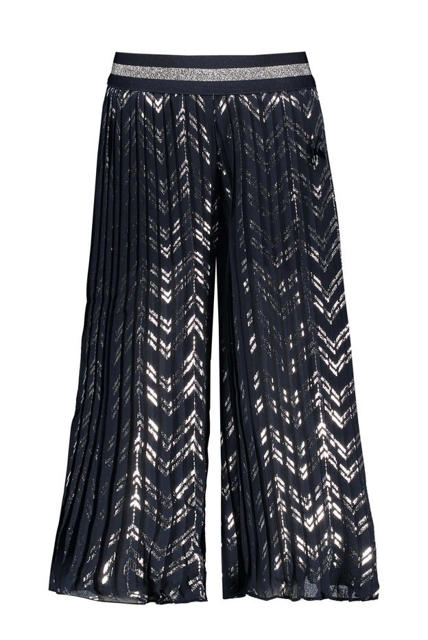 Printed Plissee Trousers by Le Chic