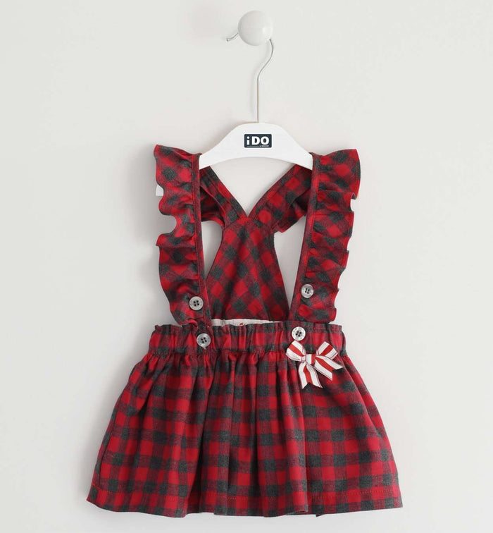 Red Plaid Pinafore by IDO