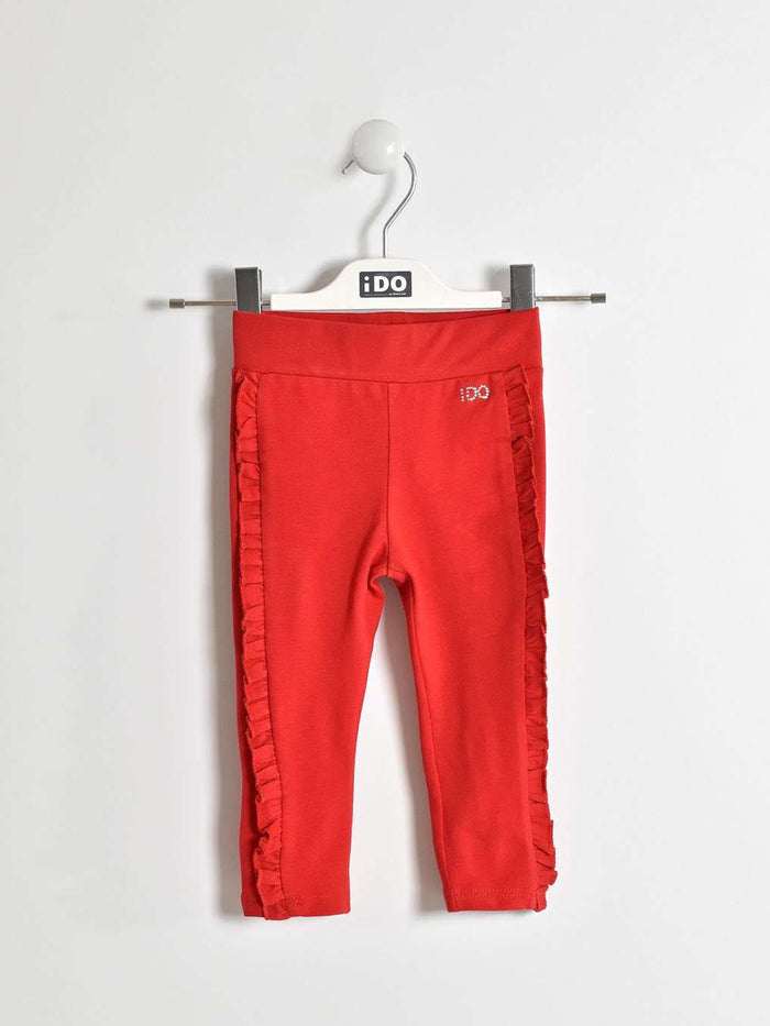 Red Ruffle Leggings by IDO