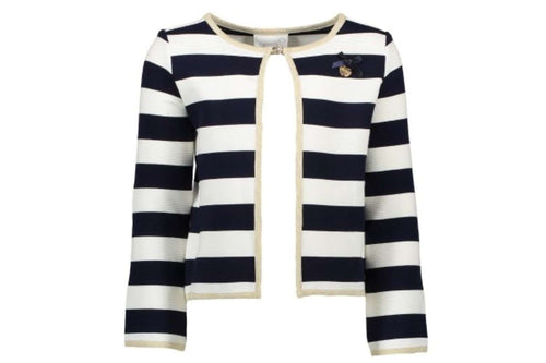 Relief Stripe Cardigan by Le Chic