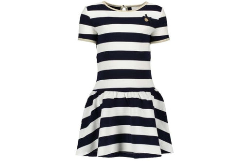 Relief Stripe Dress by Le Chic