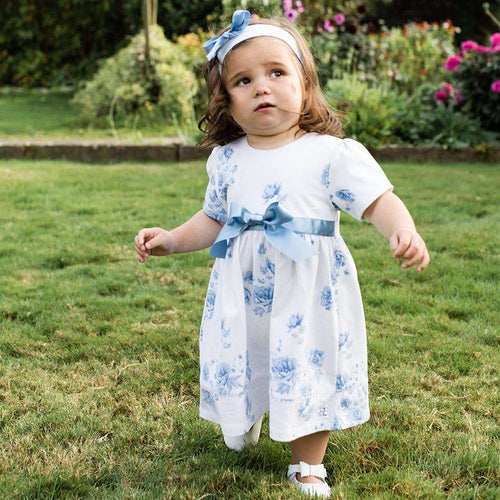 Simone Sky Blue Floral Dress