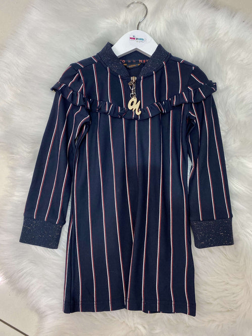 Striped Jacket Dress by NoNo