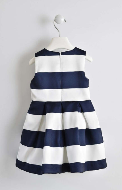 Thick Stripe Large Bow Detail Dress by IDO