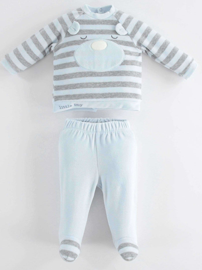 Two Piece Romper Suit with Feet by IDO