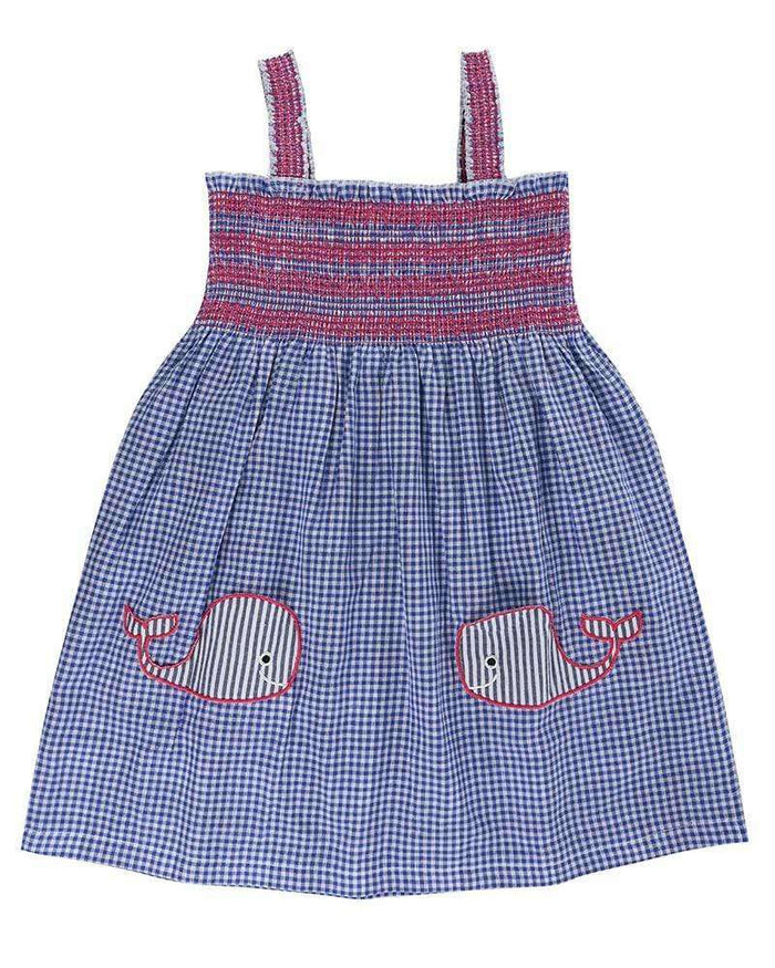 Whale Pockets Reversible Sundress by Lilly & Sid