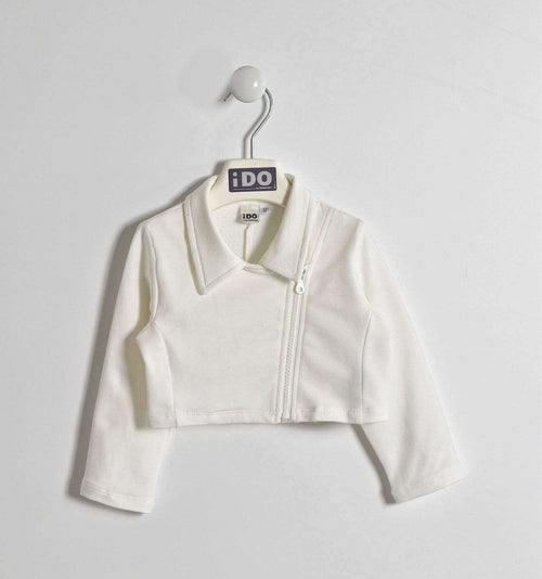 White Cropped Jacket by IDO