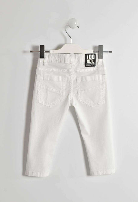 White Denim Trousers by IDO