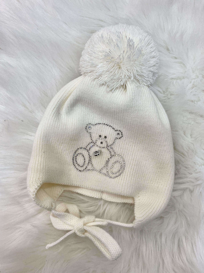 White Teddy Hat