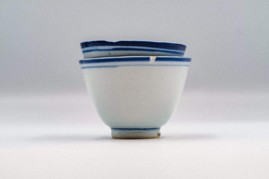 Blue Line Cup (Late Qing Dynasty) - Large - 2nd Grade | Chanting Pines | Simply the finest Chinese Tea & Teaware
