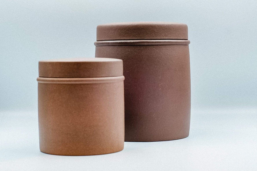 Cylinder Yixing Jar | Chanting Pines | Simply the finest Chinese Tea & Teaware