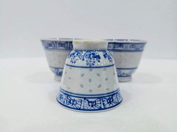 Jingdezhen Porcelain Cup (1966-1976) - Blue | Chanting Pines | Simply the finest Chinese Tea & Teaware