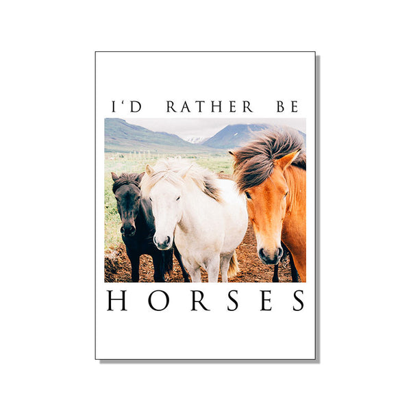 I'D RATHER BE HORSES