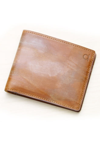 100 PERCENT Mone Fold Wallet Brown