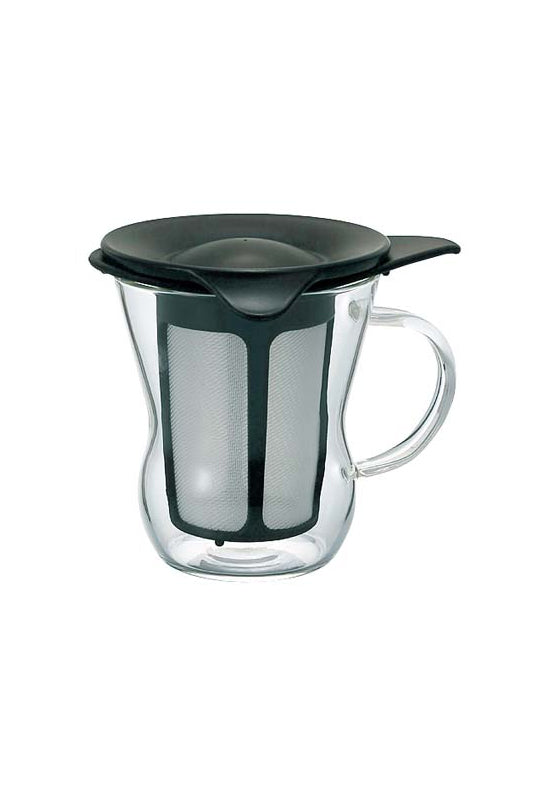 HARIO One Cup Tea Maker Natural Black OTM-1B