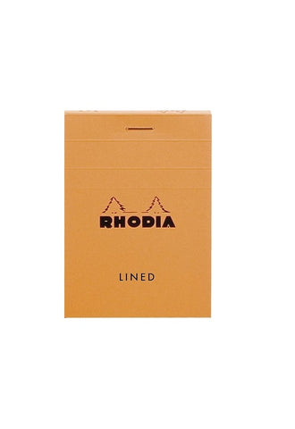 RHODIA Bloc N11 7.4x10.5cm Lined Orange #11600C